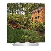 The Old Mill And Pond Shower Curtain