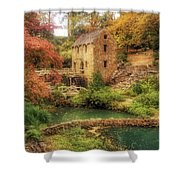 The Old Mill In Autumn - Arkansas - North Little Rock Shower Curtain