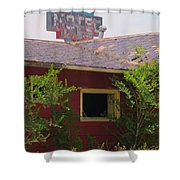 The Old Motel Shower Curtain