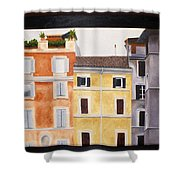 The Old Neighborhood Shower Curtain by Karin Thue