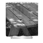 The Old Picnic Table Shower Curtain