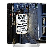 The Old Pilchard Press Shower Curtain
