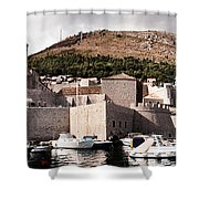 The Old Port Under The Ramparts Shower Curtain