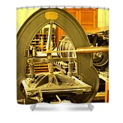 The Old Printing Press Shower Curtain