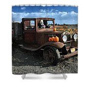 The Old Pumpkin Patch Shower Curtain