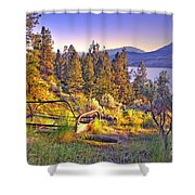 The Old Resting Place Shower Curtain