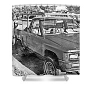 The Old Retro Truck Shower Curtain