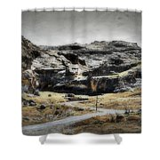 The Old Road Shower Curtain
