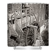The Old Saw Mill Shower Curtain by Edward Fielding