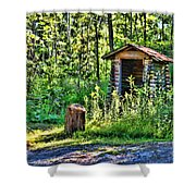 The Old Shed Shower Curtain by Cathy  Beharriell