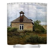 The Old Shell Schoolhouse Shower Curtain