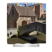 The Old Stone Bridge In Bruges Shower Curtain