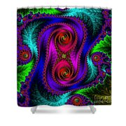 The Old Stuffed Chair - Fractal Shower Curtain