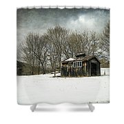The Old Sugar Shack Shower Curtain