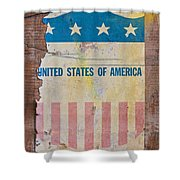 The Old Tag Shower Curtain