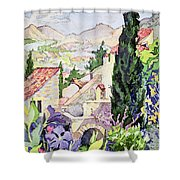The Old Town Vaison Shower Curtain
