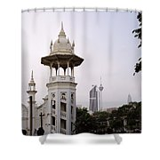 The Old Train Station Shower Curtain
