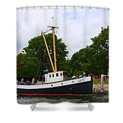 The Old Tugboat At Mystic Shower Curtain