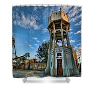 The Old Water Tower Of Tel Aviv Shower Curtain by Ron Shoshani