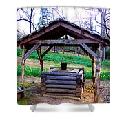 The Old Water Well Shower Curtain