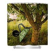 The Old Wheelbarrow Shower Curtain