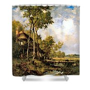The Old Windmill Near Barbizon Shower Curtain