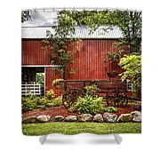 The Old Wood Cart Shower Curtain