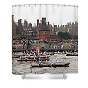The Olympic Torch Leaves Hampton Court On The Final Leg Of Its J Shower Curtain