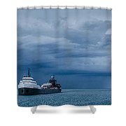 The Oncoming Storm Shower Curtain