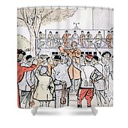 The Oncourse Bookie Shower Curtain