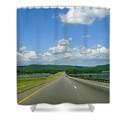 The Open Highway Shower Curtain