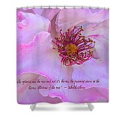 The Optimist Sees The Rose Shower Curtain