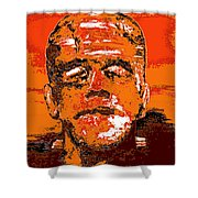 The Orange Monster Shower Curtain