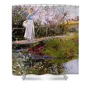 The Orchard Brook  Shower Curtain