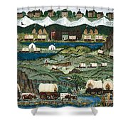 The Oregon Trail Shower Curtain