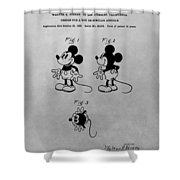 The Original Mickey Mouse Patent Design Shower Curtain