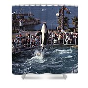 The Original Shamu Orca Sea World San Diego 1967 Shower Curtain
