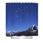 The Orion Constellation Shower Curtain