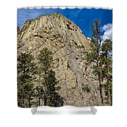 The Other Side Of Devils Tower Shower Curtain