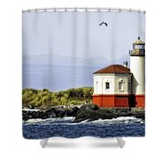 The Other Side Of The Coquille River Shower Curtain