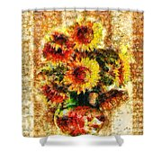 The Other Sunflowers Shower Curtain
