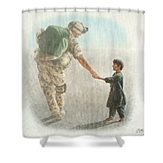The Outcome Of War Is In Our Hands Shower Curtain
