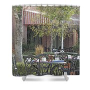 The Outdoor Cafe Shower Curtain