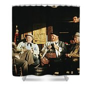 The Over The Hill Gang  Johnny Cash Porch Old Tucson Arizona 1971 Shower Curtain