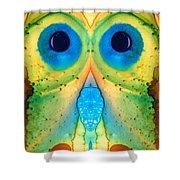 The Owl - Abstract Bird Art By Sharon Cummings Shower Curtain