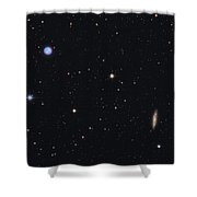 The Owl Nebula And Messier 108 Shower Curtain