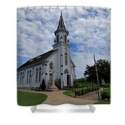 The Painted Churches Shower Curtain