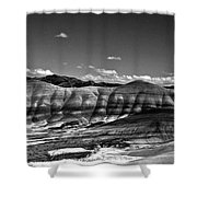 The Painted Hills Bw Shower Curtain