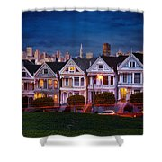 The Painted Ladies Of San Francsico Shower Curtain