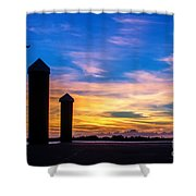 The Painted Sky Shower Curtain